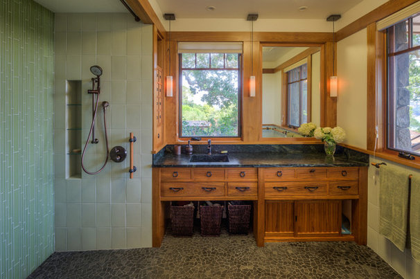 Asian bathroom by phoenix woodworks
