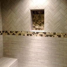 Transitional Bathroom by Barbara Ann Holmes - Lintels & Lallies