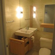 Modern Bathroom by Green Living Designs