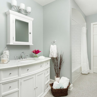 Inspiration For A Timeless Subway Tile Shower Curtain Remodel In Minneapolis Save Photo Minikahda Vista Cape Cod