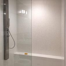 Industrial Bathroom by Moss Yaw Design studio