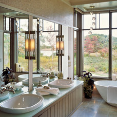 Transitional Bathroom by Breese Architects