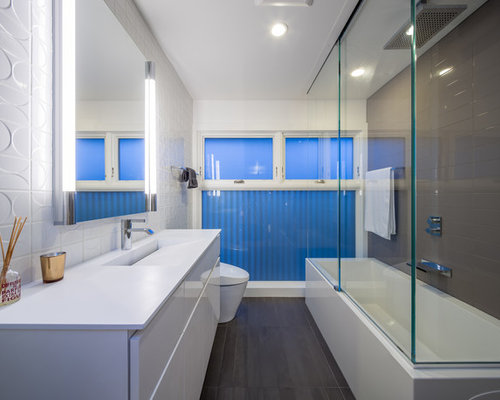mid century modern bathroom ideas, pictures, remodel and decor,
