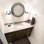 Attic Bedroom Transformed Into Contemporary Bathroom
