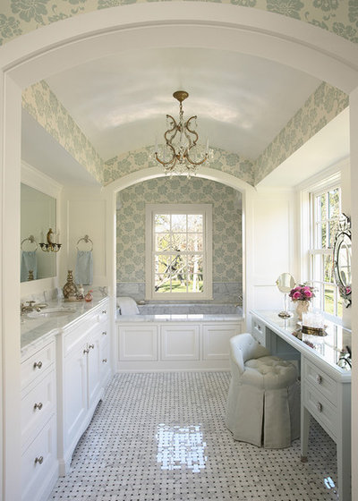 Perfect Traditional Bathroom by COOK ARCHITECTURAL Design Studio