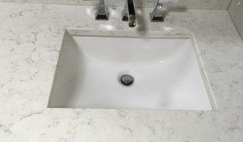 Minuet LG quartz bathroom vanity countertop