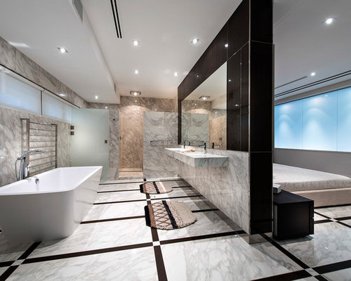 Master bath shower contemporary bathroom san francisco by - Open Bathroom Houzz
