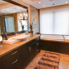 Transitional Bathroom by Interiors by Christina Inc