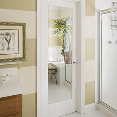 Modern Bathroom by HomeStory Easy Door Installation