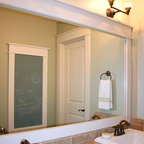Frames for existing mirrors traditional bathroom for Bath remodel salt lake city