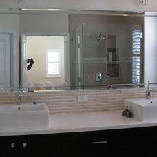 Contemporary Bathroom by GulfSide Glass, Inc.