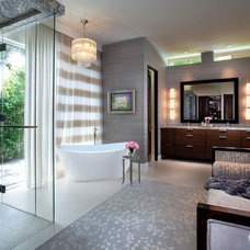 Transitional Bathroom by Michelle Montgomery Interiors