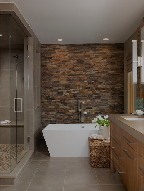 Best Stack Stone Accent Wall Design Ideas Remodel Pictures – Accent Wall Bathroom