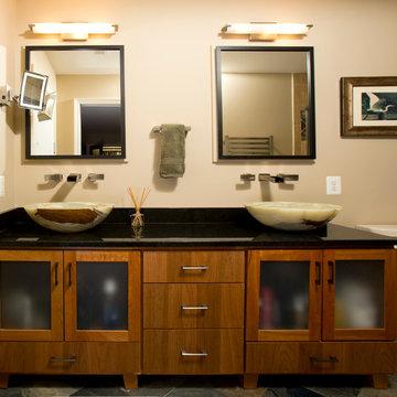 Mission Style Master Bath in Vienna, VA