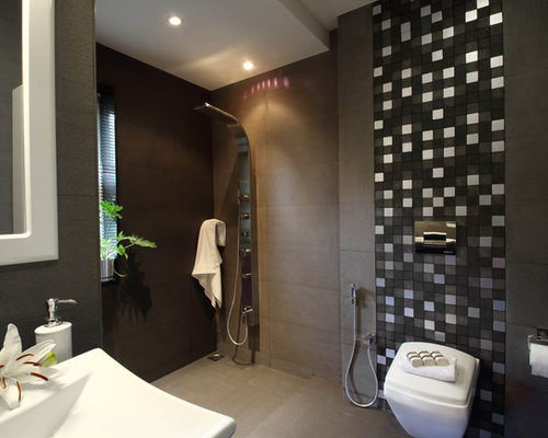 Tile Behind Toilet Home Design Ideas Pictures Remodel
