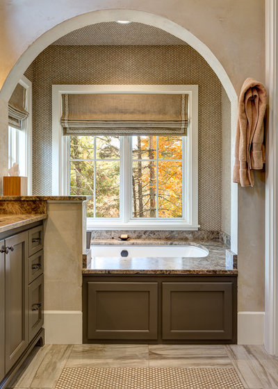 Transitional Bathroom by Wright Design