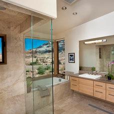 Southwestern Bathroom by Karen White Interior Design