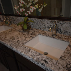 Traditional Bathroom by Blue River Cabinetry