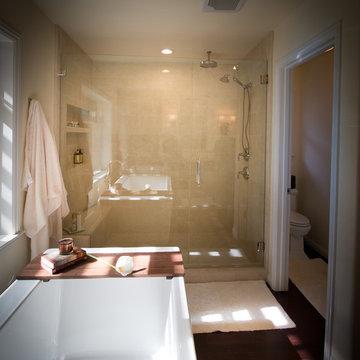 Mocha Marble Bathroom