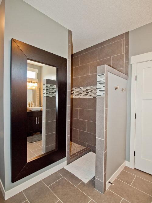 Craftsman Shower Without Door Bathroom Design Ideas