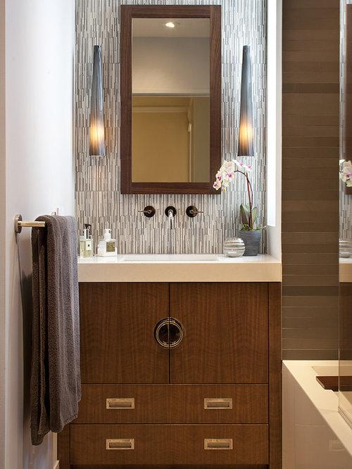 Tile vanity backsplash ideas pictures remodel and decor for Innovative bathroom vanity backsplash ideas