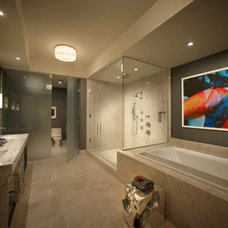 Modern Bathroom by b+g design inc.