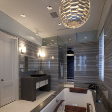 Contemporary Bathroom by David De La Garza / ZURDODGS