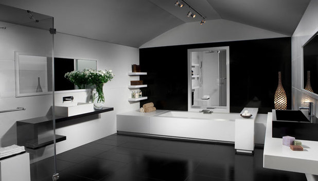 conseils de pro pour oser le sol noir. Black Bedroom Furniture Sets. Home Design Ideas