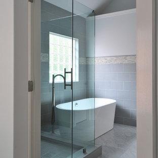 Inspiration for a modern bathroom remodel in Atlanta