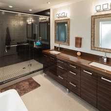 Modern Bathroom by Kitchen Craft Cabinetry Vancouver and Victoria