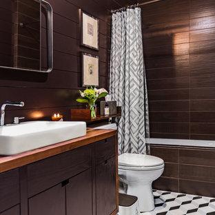 75 most popular brown tile bathroom design ideas for 2019