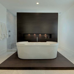 modern bathroom by kmh design, inc.
