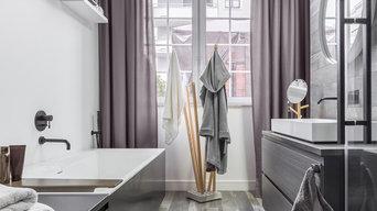 Modern bathroom living