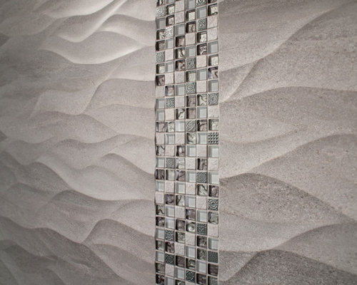 Wavy tile houzz - Modern bathroom tile designs and textures ...