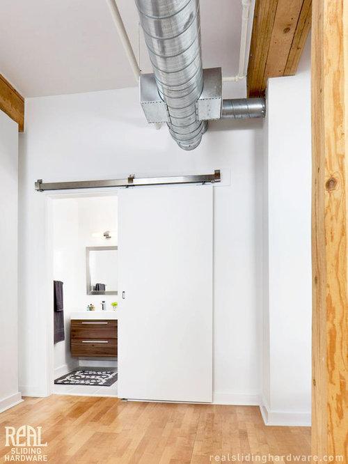 Real Carriage Doors Bathroom Design Ideas, Renovations & Photos