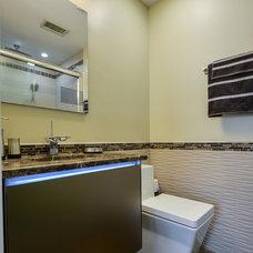 Contemporary Bathroom by Robin Hiken Interiors