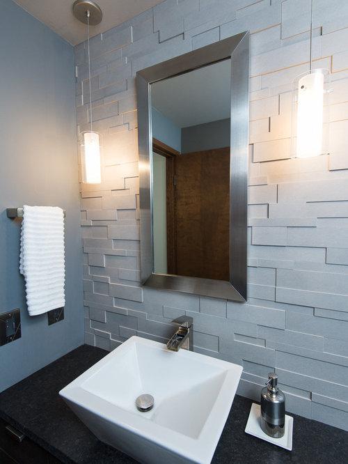 moderne duschb der mit granit waschtisch ideen beispiele. Black Bedroom Furniture Sets. Home Design Ideas