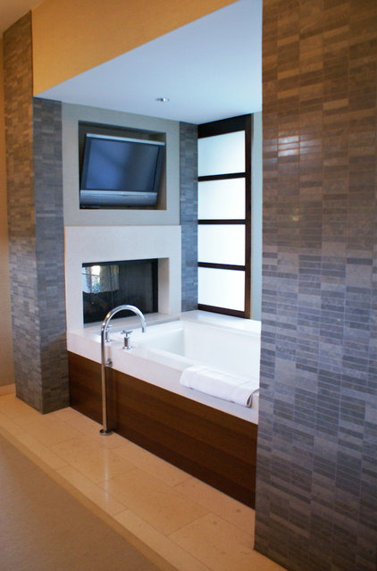 Bathroom Tv Ideas Modern Bathroom By Slic Interiors Ways To Pimp Your Bathroom