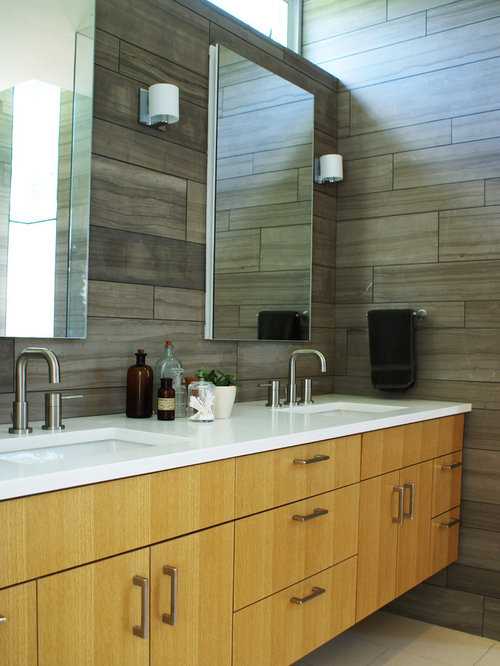 Austin Bathroom Design Ideas, Renovations amp; Photos with Light Wood