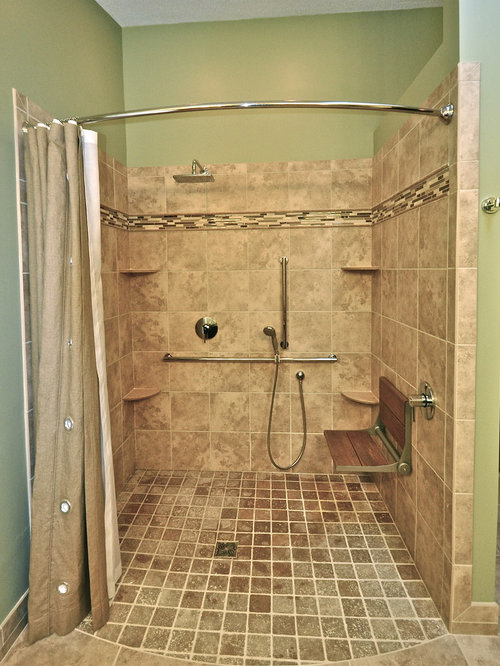 Handicapped accessible shower home design ideas pictures for Pictures of handicap bathrooms