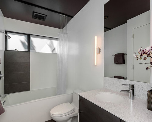 Shower Curtain Design Ideas 1000 images about shower curtains on pinterest shower curtains curtain ideas and diy shower Example Of A Minimalist Tubshower Combo Design In San Francisco With An Undermount Sink