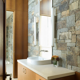 Inspiration for a rustic bathroom remodel in San Francisco