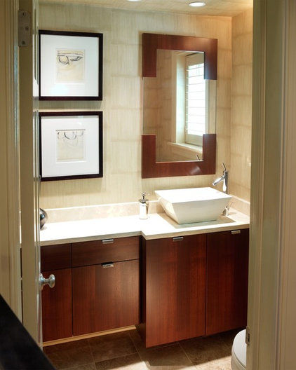 Contemporary Bathroom by HINGE Cabinetry & Furniture