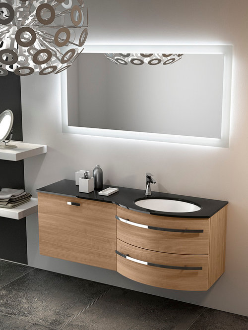 Curved Bathroom Vanity Ideas, Pictures, Remodel and Decor
