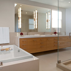 Contemporary Bathroom by Jennifer Gustafson Interior Design
