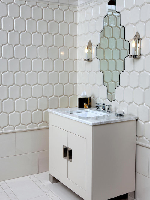inspiration for a modern bathroom remodel in orange county with marble countertops