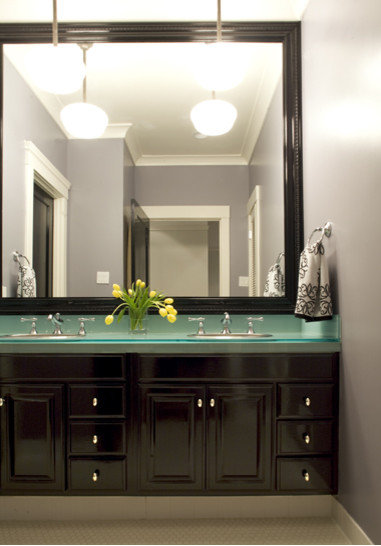frameless bathroom mirror | houzz