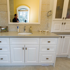 Transitional Bathroom by Symphony Kitchens Inc