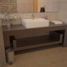 Modern Bathroom by Amer Adnan Associates