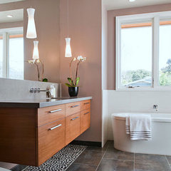contemporary bathroom by GoGo Creations